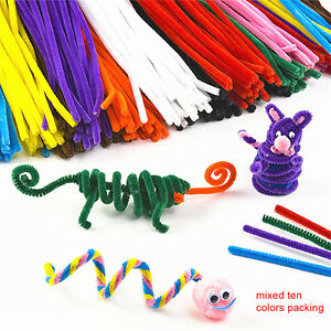 100PCS-Hair-Root-Twisted-Sticks-Plush-Strip-DIY-Handmade-Material-Mixing-Color