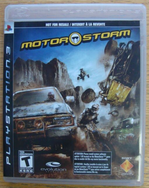 MOTOR STORM NOT FOR RESALE PS3 SONY PLAYSTATION 3 GAME
