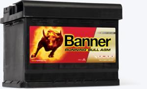Banner Premium Starterbatterie für Start-Stopp  Running Bull AGM 580 01 12V 80AH