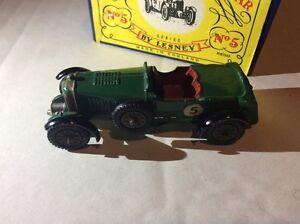 Vintage Lesney Models Of Yesteryear rare au Mans Bentley