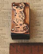 TÄNZERIN - DAME Jugendstil Kupferdruckstock Galvano copper letterpress block