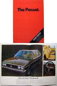 VW-Volkswagen-Passat-Mk-1-L-LS-TS-amp-Variant-1974-75-Original-UK-Sales-Brochure