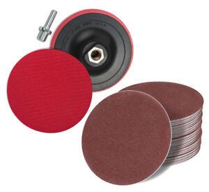 Qualifié Velcro Fonde Eller M14 + 50 Meules + Adaptateur ø125 Plateaux Support à Excentrique-n + Adapter Ø125 Schleifteller Exzenter Fr-fr Afficher Le Titre D'origine