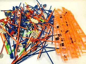 K'NEX Lot of Speed Coaster TRACK PIECES and Misc Rods + Connectors + More