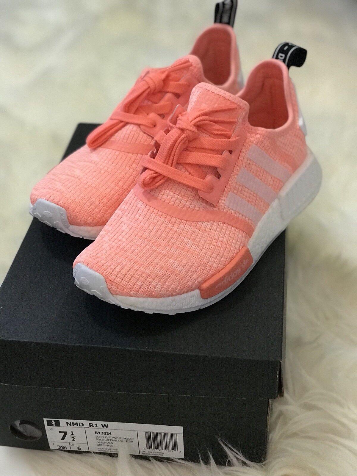 Adidas nmd r1 salmone w sole raggiante rosa salmone r1 sz 7,5 donna by3034 arancione d266df