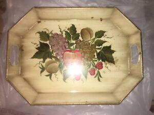 vintage-tole-pilgrim-art-handpainted-fruit-octagon-tray-148-cut-out-handles
