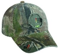 Realtree Camo 4 Pin Bow Sight Crosshairs / Archery Hunting Hat / Cap -