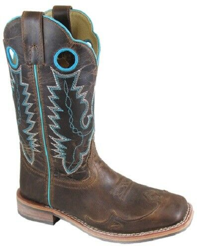 NEW  Smoky Mountain Boots LADIES Western Cowboy - 10  Leather  Brown Square Toe