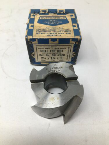 """1 5//8"""" LOC 1"""" Bore Butterfield HSS Shell End Mill For Aluminum 2 1//2"""" Dia"""