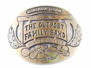 1985 The Outpost Family Band Belt Buckle By PRAIRIE ENTERPRISES 31616