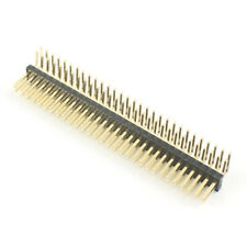 10pcs Gold Plated 127mm Pitch 2x30 60 Pin Male Double Right Angle Header Strip