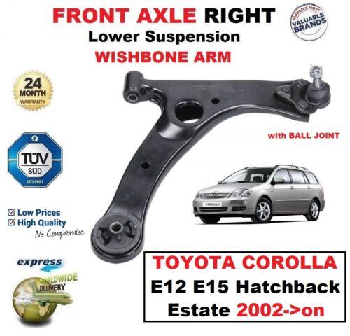 FRONT AXLE RIGHT Lower SUSPENSION Wishbone ARM for TOYOTA COROLLA E12 E15 2002-/>