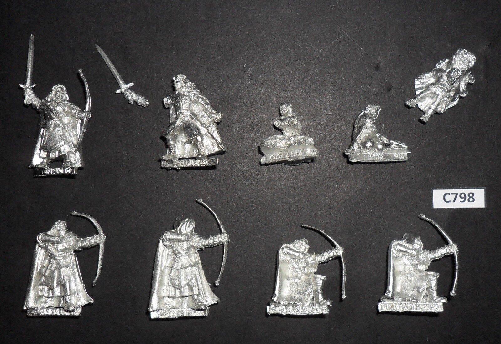 Warhammer le Seigneur des anneaux LOTR Metal capturé par Gondor Gondor Gondor Set Faramir Gollum c19519