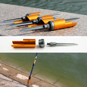 Aluminum alloy portable triquetrum fixed ground rack spike for Ground fishing rod holders