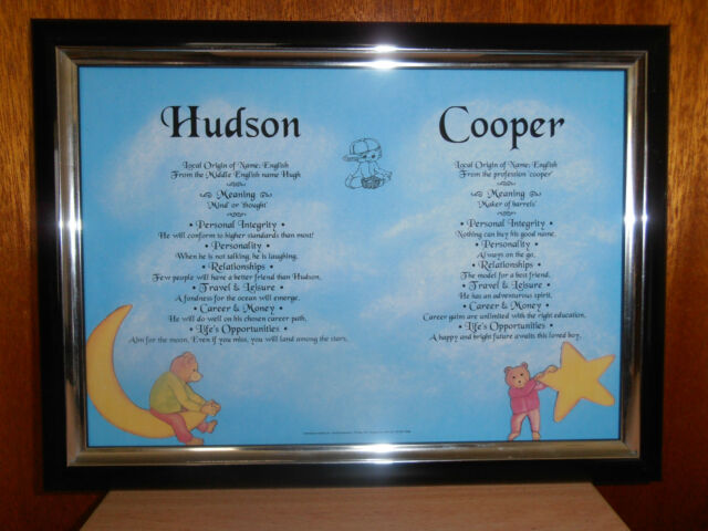 Meaning of Baby's First and Middle Name Christening Baptism Gift Sent  Priority