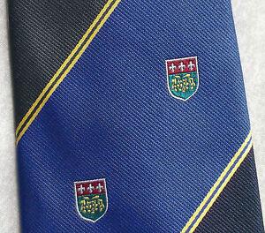 Livraison Rapide Vintage Cravate Homme Cravate Shield Crested Club Association Society-afficher Le Titre D'origine