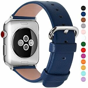 Apple Watch Strap 38mm Leather Replacement Smart Watch Band Series 3 2 1 Blue - London, United Kingdom - Apple Watch Strap 38mm Leather Replacement Smart Watch Band Series 3 2 1 Blue - London, United Kingdom