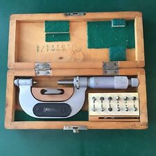 Fowler 1 2 Thread Pitch Micrometer With 6 Anvil Sets Amp Standard