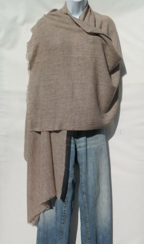 "Mixed Color Brown /& Gray 100/% Cashmere|Shawl|Handloomed|Nepal|/""Natural/"""