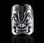 thumbnail 1 - Awesome Tiki Face Design In Real Sterling 925 Silver Men's Vintage Style Ring