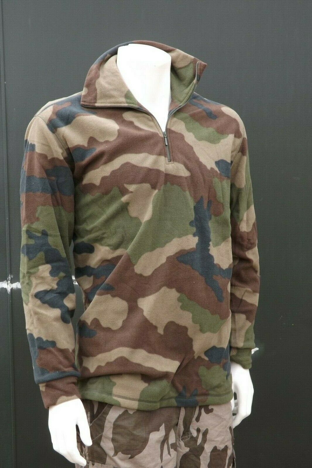 Brand New Genuine Surplus French Army Fleece Pullover Jumper Camouflage CCE