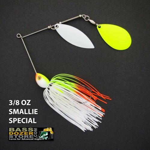 Bassdozer Spinnerbaits Willow Indiana 3//8 oz smallie Spécial Spinner appât baits
