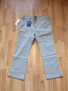 BNWT-Ladies-Ralph-Lauren-Polo-Beige-Wheat-Stretch-Capri-Jeans-Size-30