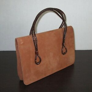 Brown Suede Handbag Bag Purse