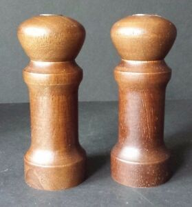 Image Is Loading Wood Salt And Pepper Shakers 4 034 Tall