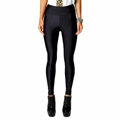 Womens Full Length Neon Gym Wear Pants Ladies High Waist Fitness Sports Leggings