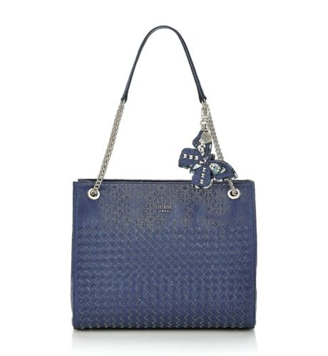 Blue Bag Nuevo Handbag etiquetas Chain Strap Guess con Shoulder vZ7xnn