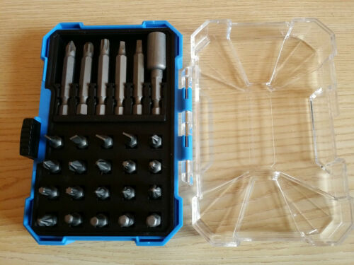 "26Pc 1//4/"" Hex Screwdriver Bit Set /& 1//4/"" Chuck in Case PZ1 PZ2 PZ3 PH1 PH2 Torx"