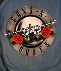 GUNS-N-039-ROSES-cd-cvr-CLASSIC-FADED-ROSES-LOGO-Official-SHIRT-XL-New-appetite