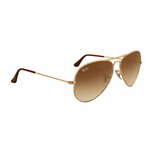4c2669d4ea5 Authentic Ray-Ban Aviator Sunglasses Rb3025 001 51 58 Gold Brown ...