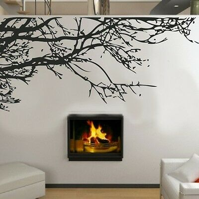Black DIY Home Decor Branches Removable Decal Room Wall Sticker Vinyl Art