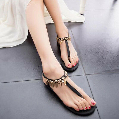 New Fashion Women's Thong Flat Sandals Ladies Summer Casual Shoes Toe Flip Flops