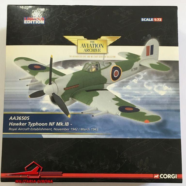 Corgi 1 72 Luftfahrt AA36505 Hawker Taifun NF Mk.IB-Royal Flugzeug Einrichtung