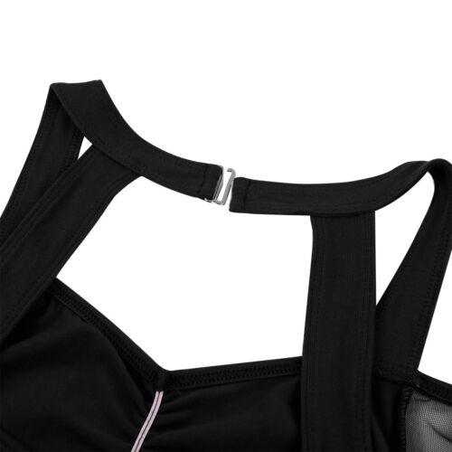 Womens Gymnastics Leotard Ballet Mesh Dance Dress Skate Costume Latin Dancewear