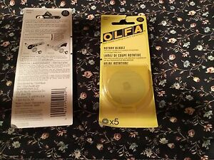 OLFA-Rotary-Cutter-BLADES-15-50-45mm-pack-of-5-blades-new-FREE-SHIPPING