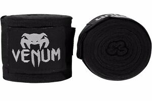 Venum-Kontact-Boxing-Hand-Wraps-4M-Stretch-Sparring-Tape-Muay-Thai-MMA-Black