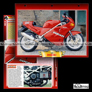 #035.01 Fiche Moto Ducati 851 1988-1990 Sport Bike Motorcycle Card Riche En Splendeur PoéTique Et Picturale