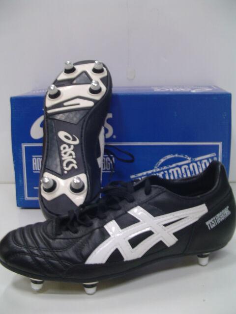 77f5bbd0e ASICS scarpe calcio TESTIMONIAL LIGHT 6 tacchetti col.NERO/BIANCO N.39 an