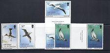 SOUTH GEORGIA 1987 BIRDS/FISH definitives (Scott 109-23) VF MNH gutter pairs