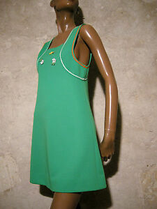Vestito 1970 Vintage Retrò '70 36 Chic Kleid Abito 70s Seventies 6wvH5UnqE5