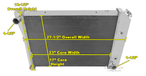 3 Row All Aluminum Champion RR Radiator CC412