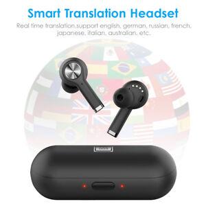 Intelligent Instant Voice Translator 19 Languages + Wireless Bluetooth Headsets