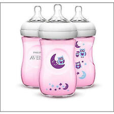 new Avent Natural 9oz Feeding bottles new pink owl paylessph