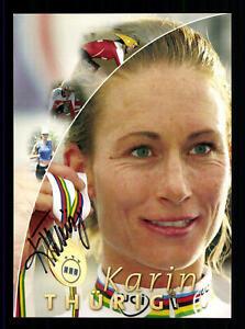 Karin Thürig Autogrammkarte Original Signiert Triathlon ## BC G 27679