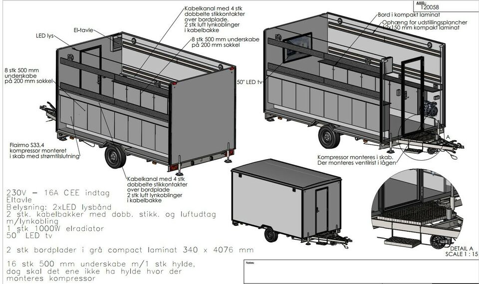 Salgsvogn, Scanvogn, lastevne (kg): 174