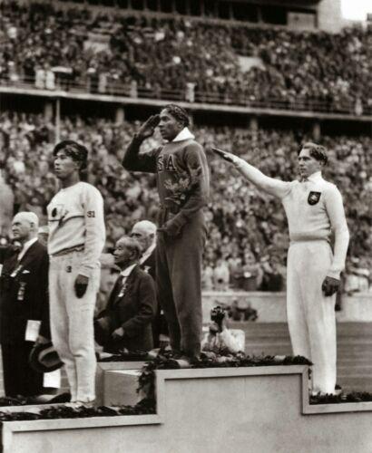Jesse Owens 8x10 photo Jessie wins Olympic gold medal in Nazi Germany 1936